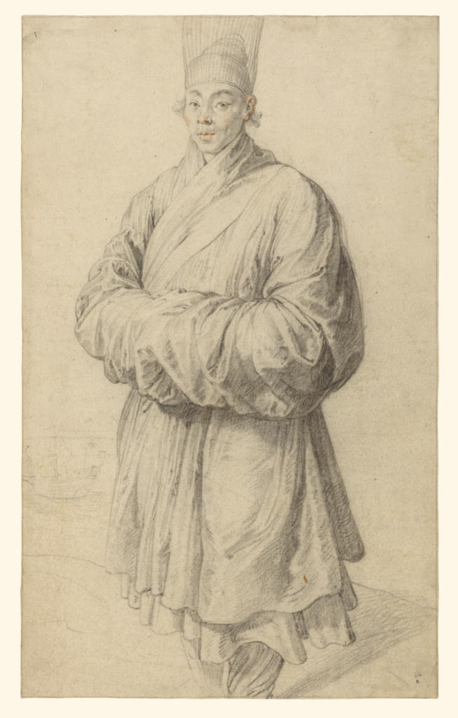 Man in Korean Costume; Peter Paul Rubens (Flemish, 1577 - 1640); about 1617; Black chalk with touches of red chalk in the face; 38.4 × 23.5 cm (15 1/8 × 9 1/4 in.); 83.GB.384; The J. Paul Getty Museum, Los Angeles; Rights Statement: No Copyright - United States