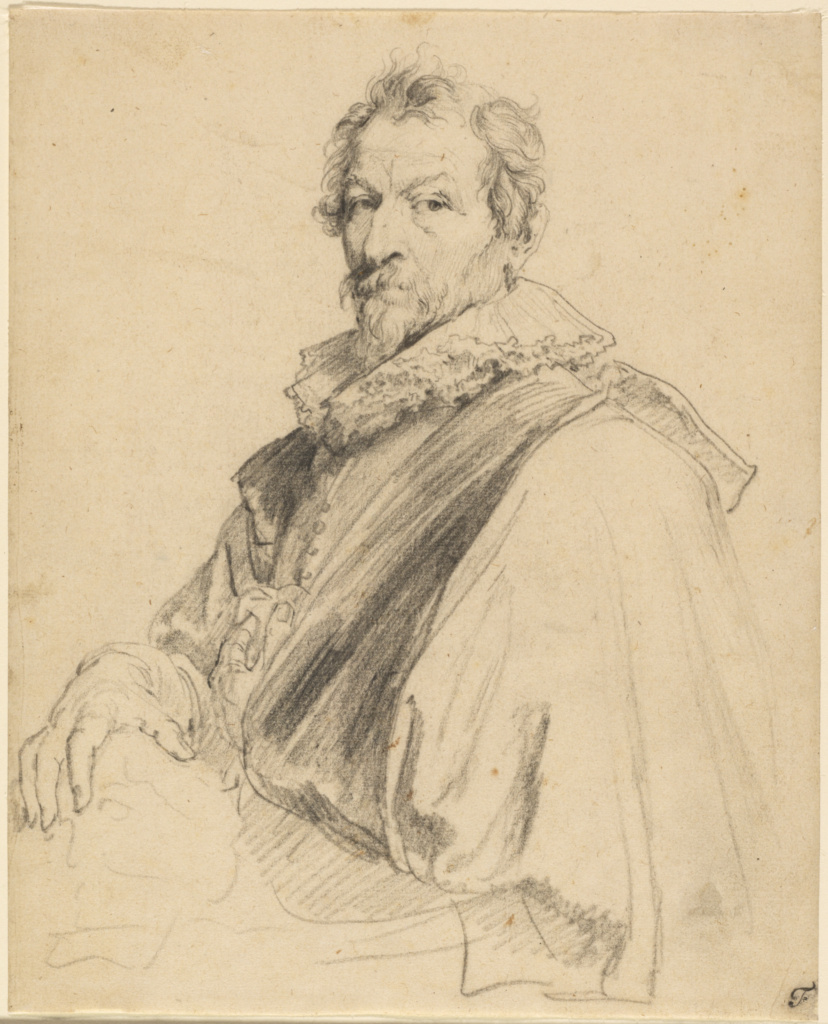 Portrait of Hendrick van Balen; Anthony van Dyck (Flemish, 1599 - 1641); about 1627–1632; Black chalk; 24.4 × 19.7 cm (9 5/8 × 7 3/4 in.); 84.GB.92; The J. Paul Getty Museum, Los Angeles; Rights Statement: No Copyright - United States