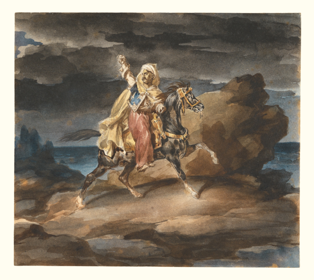 The Giaour; Théodore Géricault (French, 1791 - 1824); about 1822–1823; Watercolor over graphite; 21.1 × 23.8 cm (8 5/16 × 9 3/8 in.); 86.GC.678; Rights Statement: No Copyright - United States