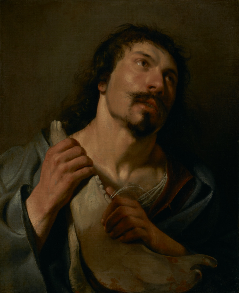 Samson with the Jawbone; Salomon de Bray (Dutch, 1597 - 1664); 1636; Oil on canvas; 64.1 × 52.4 cm (25 1/4 × 20 5/8 in.); 69.PA.23; The J. Paul Getty Museum, Los Angeles; Rights Statement: No Copyright - United States