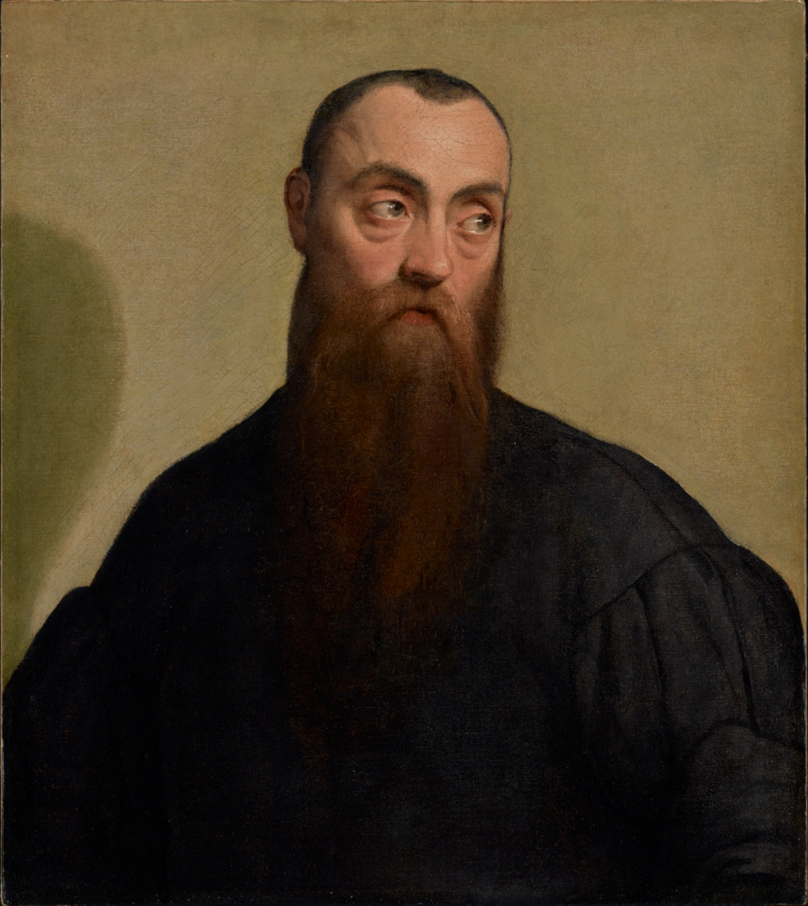 Portrait of a Bearded Man; Jacopo Bassano (Italian, about 1510 - 1592); about 1550; Oil on canvas; 62.2 × 54.9 cm (24 1/2 × 21 5/8 in.); 69.PA.25; The J. Paul Getty Museum, Los Angeles; Rights Statement: No Copyright - United States