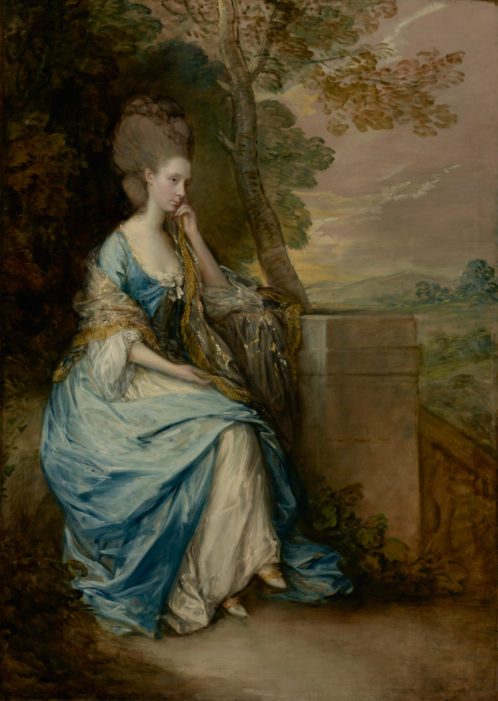 Portrait of Anne, Countess of Chesterfield; Thomas Gainsborough (English, 1727 - 1788); 1777–1778; Oil on canvas; 221 × 156.2 cm (87 × 61 1/2 in.); 71.PA.8; The J. Paul Getty Museum, Los Angeles; Rights Statement: No Copyright - United States