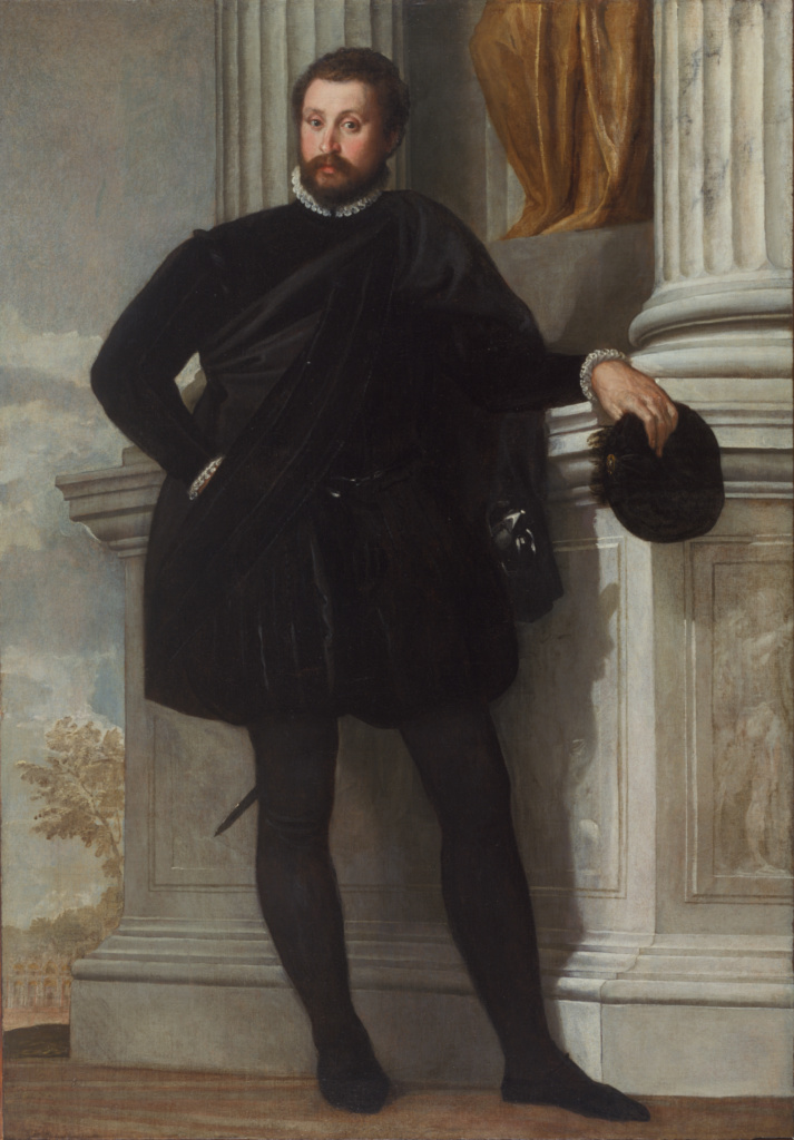Portrait of a Man; Paolo Veronese (Paolo Caliari) (Italian, 1528 - 1588); about 1576–1578; Oil on canvas; 192.1 × 134 cm (75 5/8 × 52 3/4 in.); 71.PA.17; Gift of J. Paul Getty; Rights Statement: No Copyright - United States