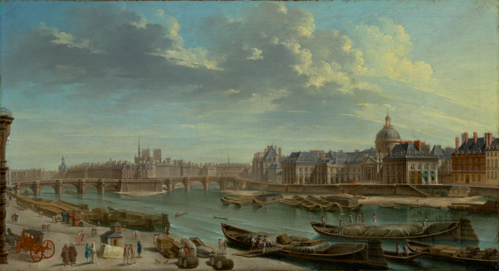 A View of Paris with the Ile de la Cité; Jean-Baptiste Raguenet (French, 1715 - 1793); 1763; Oil on canvas; 46 × 84.5 cm (18 1/8 × 33 1/4 in.); 71.PA.25; The J. Paul Getty Museum, Los Angeles; Rights Statement: No Copyright - United States
