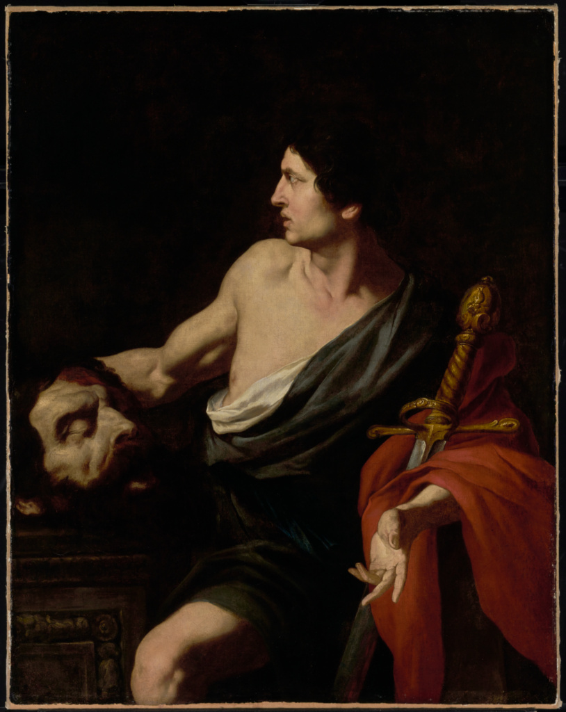 David with the Head of Goliath; Pietro Novelli (Italian (Sicilian), 1603 - 1647); about 1630s; Oil on canvas; 129.5 × 102.2 cm (51 × 40 1/4 in.); 72.PA.16; The J. Paul Getty Museum, Los Angeles; Rights Statement: No Copyright - United States