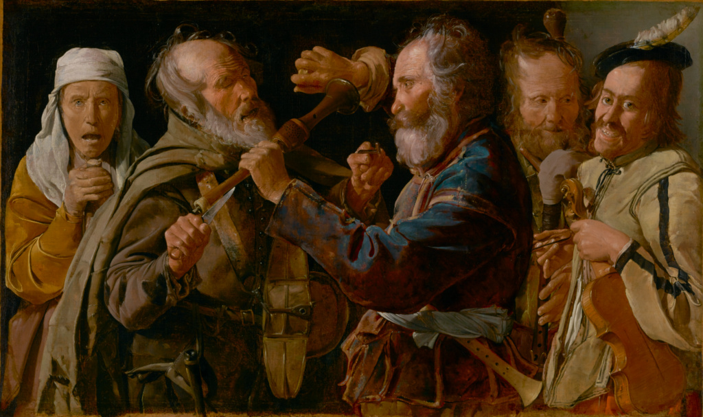 The Musicians' Brawl; Georges de La Tour (French, 1593 - 1652); about 1625–1630; Oil on canvas; 85.7 × 141 cm (33 3/4 × 55 1/2 in.); 72.PA.28; Rights Statement: No Copyright - United States