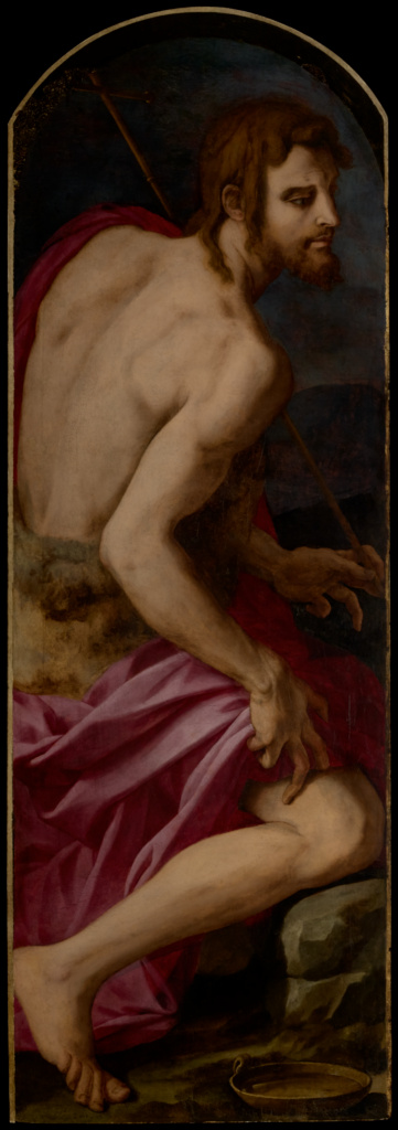 Saint John the Baptist; Agnolo Bronzino (Italian, 1503 - 1572); about 1542–1545; Oil on panel; 154 × 53 cm (60 5/8 × 20 7/8 in.); 73.PB.70; The J. Paul Getty Museum, Los Angeles; Rights Statement: No Copyright - United States