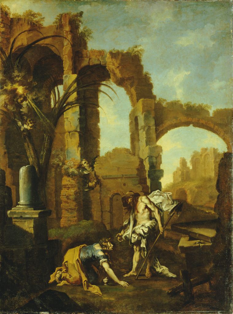 Noli Me Tangere; Alessandro Magnasco (Italian, 1667 - 1749); 1705–1710; Oil on canvas; 144.8 × 109.2 cm (57 × 43 in.); 73.PA.72; The J. Paul Getty Museum, Los Angeles; Rights Statement: No Copyright - United States
