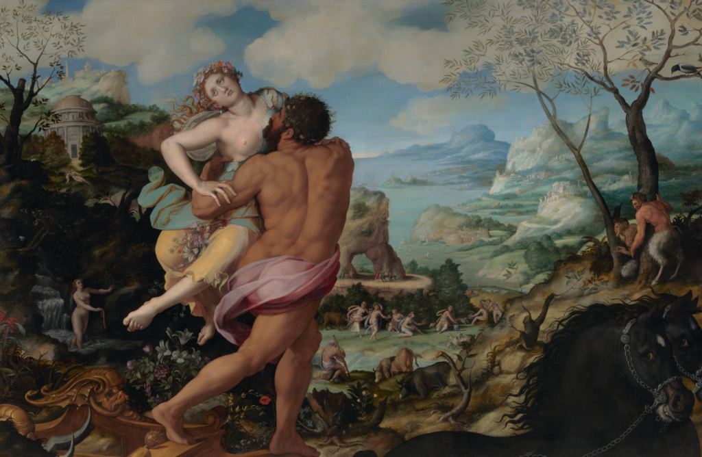 The Abduction of Proserpine; Alessandro Allori (Italian, 1535 - 1607); 1570; Oil on panel; 228.6 × 348 cm (90 × 137 in.); 73.PB.73; The J. Paul Getty Museum, Los Angeles; Rights Statement: No Copyright - United States