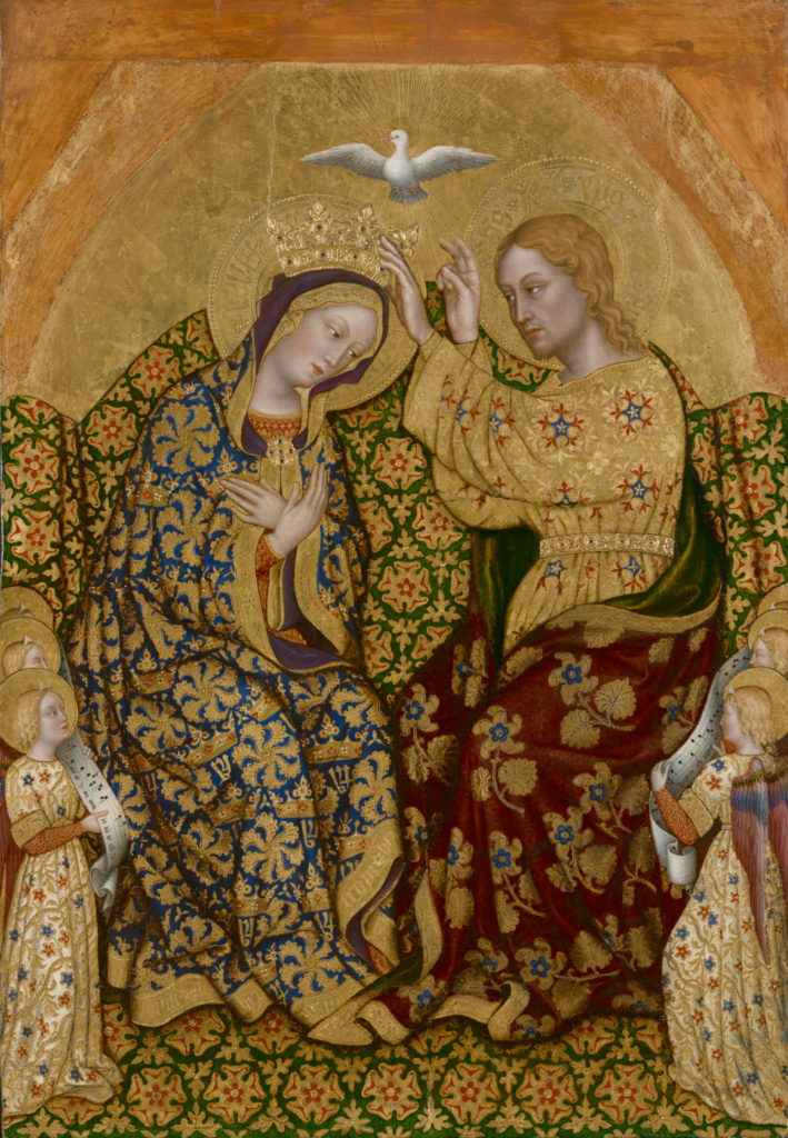 Coronation of the Virgin; Gentile da Fabriano (Italian, about 1370 - 1427); about 1420; Tempera and gold leaf on panel; 93 × 64.1 cm (36 5/8 × 25 1/4 in.); 77.PB.92; The J. Paul Getty Museum, Los Angeles; Rights Statement: No Copyright - United States