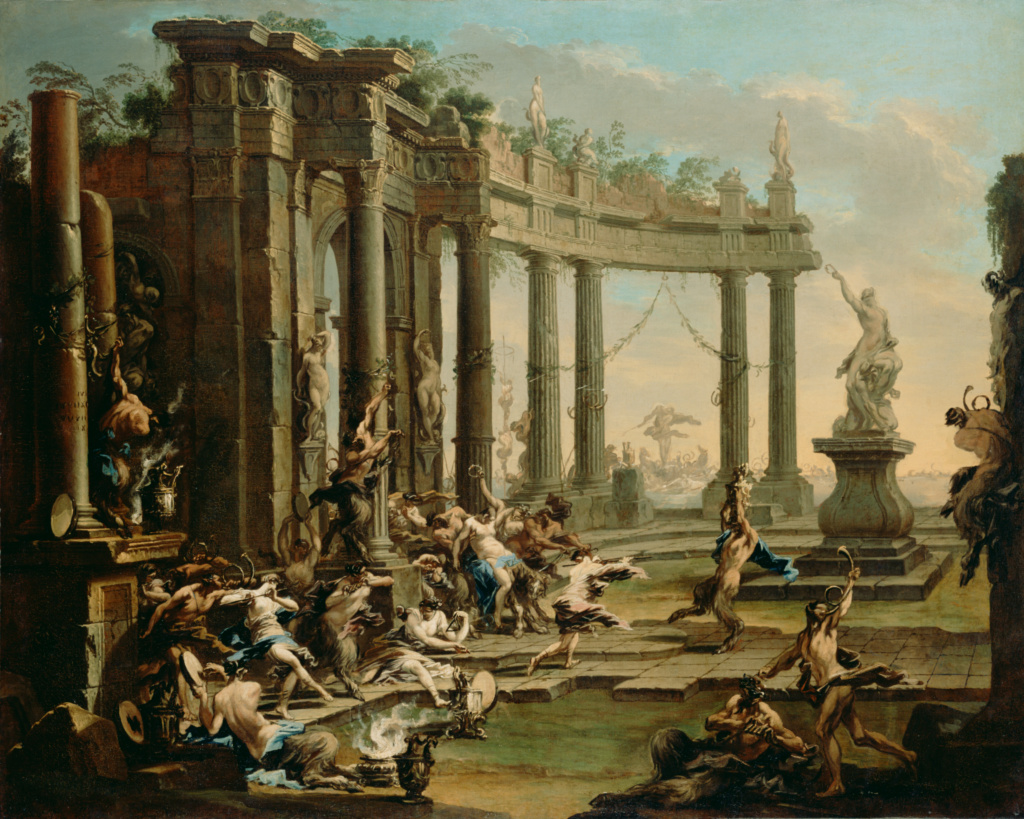 Bacchanale; Alessandro Magnasco (Italian, 1667 - 1749); about 1720–1730; Oil on canvas; 118.1 × 148.6 cm (46 1/2 × 58 1/2 in.); 78.PA.1; The J. Paul Getty Museum, Los Angeles; Rights Statement: No Copyright - United States