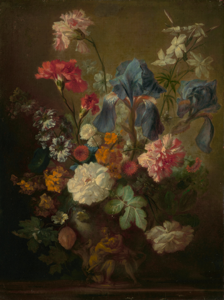 Vase of Flowers; Follower of Jan van Huysum (Dutch, 1682 - 1749); mid-18th century; Oil on canvas; 54.6 × 40.6 cm (21 1/2 × 16 in.); 78.PA.67; The J. Paul Getty Museum, Los Angeles; Rights Statement: No Copyright - United States