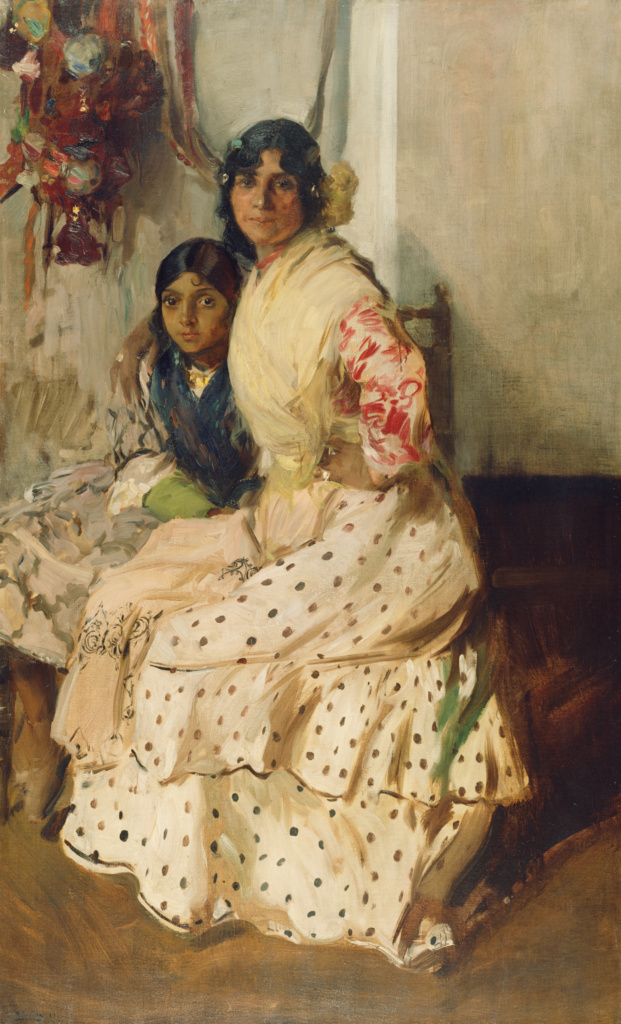 Pepilla the Gypsy and Her Daughter; Joaquín Sorolla y Bastida (Spanish, 1863 - 1923); 1910; Oil on canvas; 181.6 × 110.5 cm (71 1/2 × 43 1/2 in.); 78.PA.75; The J. Paul Getty Museum, Los Angeles; Rights Statement: No Copyright - United States