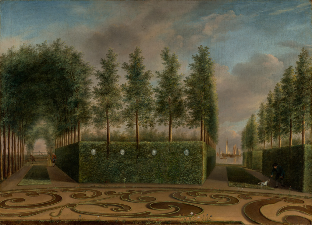 A Formal Garden; Johannes Janson (Dutch, 1729 - 1784); 1766; Oil on canvas; 53.3 × 73 cm (21 × 28 3/4 in.); 78.PA.202; The J. Paul Getty Museum, Los Angeles; Rights Statement: No Copyright - United States