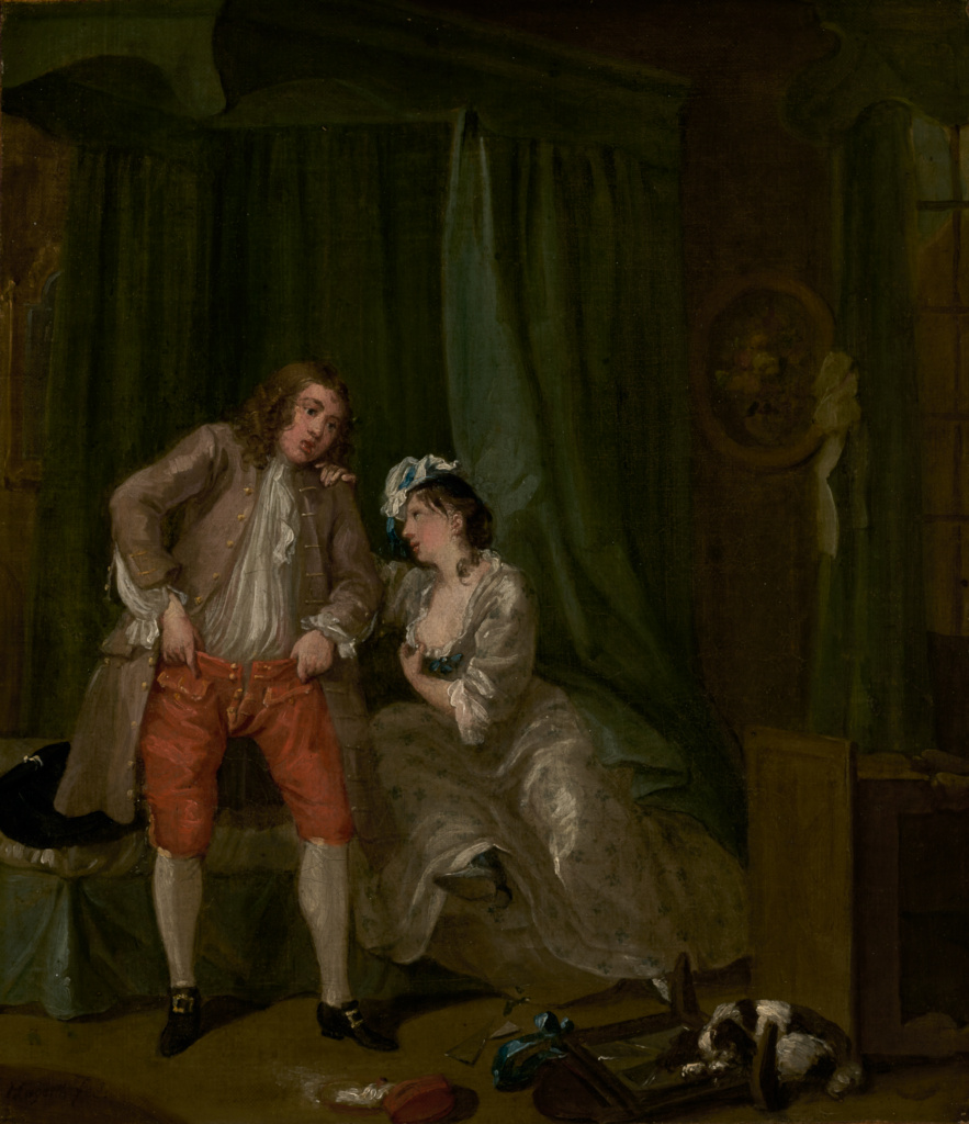 After; William Hogarth (English, 1697 - 1764); 1730–1731; Oil on canvas; 39.4 × 33.7 cm (15 1/2 × 13 1/4 in.); 78.PA.205; Rights Statement: No Copyright - United States