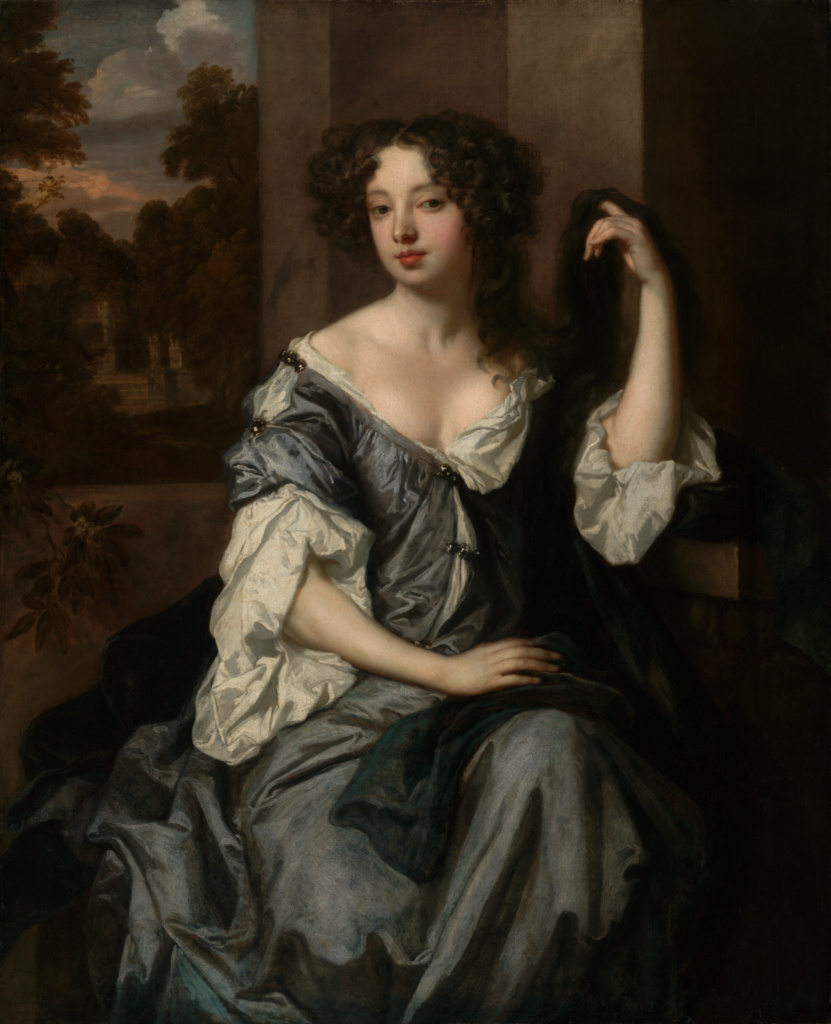 Portrait of Louise de Keroualle, Duchess of Portsmouth; Peter Lely (Dutch, active England, 1618 - 1680); about 1671–1674; Oil on canvas; 125.1 × 101.6 cm (49 1/4 × 40 in.); 78.PA.223; The J. Paul Getty Museum, Los Angeles; Rights Statement: No Copyright - United States