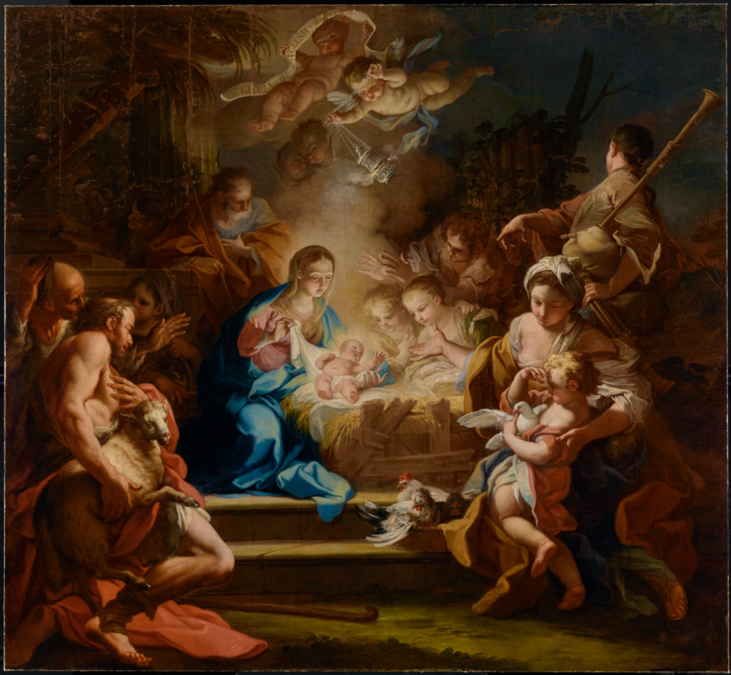 The Adoration of the Shepherds; Sebastiano Conca (Italian (Neapolitan), 1680 - 1764); Naples, Campania, Italy; 1720; Oil on canvas; 243.8 × 264.2 cm (96 × 104 in.); 78.PA.232; The J. Paul Getty Museum, Los Angeles; Rights Statement: No Copyright - United States