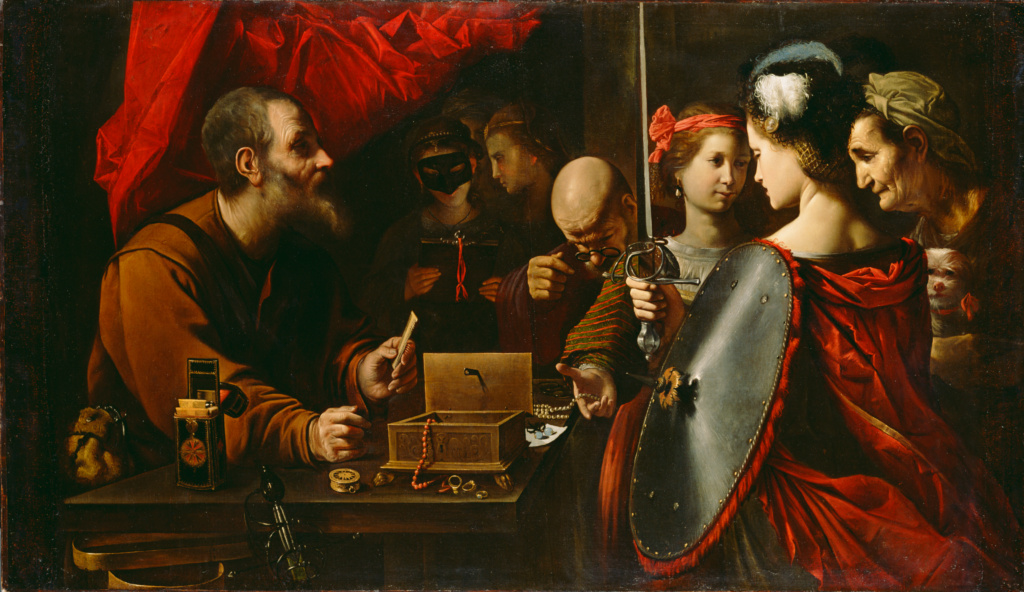 Achilles among the Daughters of Lycomedes; Pietro Paolini (Italian (Lucchese), 1603 - 1681); about 1625–1630; Oil on canvas; 127 × 203.2 cm (50 × 80 in.); 78.PA.363; Rights Statement: No Copyright - United States