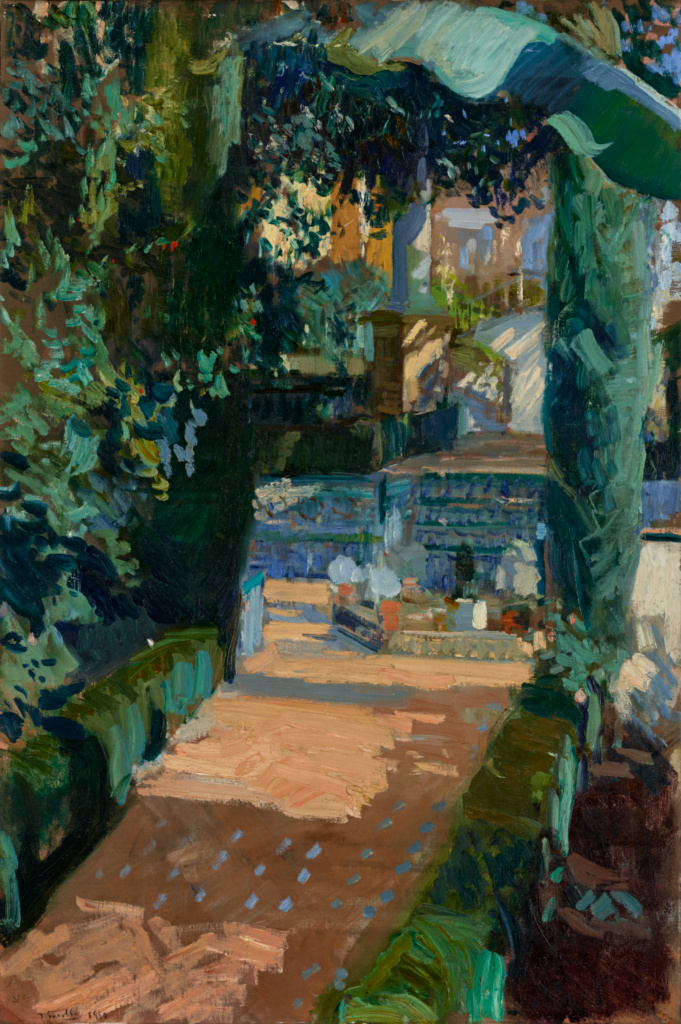 Court of the Dances, Alcázar, Sevilla; Joaquín Sorolla y Bastida (Spanish, 1863 - 1923); 1910; Oil on canvas; 95.3 × 63.5 cm (37 1/2 × 25 in.); 79.PA.151; The J. Paul Getty Museum, Los Angeles; Rights Statement: No Copyright - United States