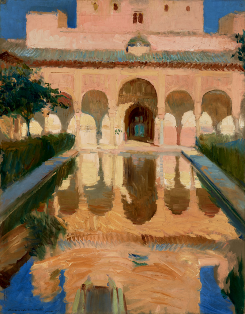 Hall of the Ambassadors, Alhambra, Granada; Joaquín Sorolla y Bastida (Spanish, 1863 - 1923); 1909; Oil on canvas; 104.1 × 81.9 cm (41 × 32 1/4 in.); 79.PA.154; Rights Statement: No Copyright - United States
