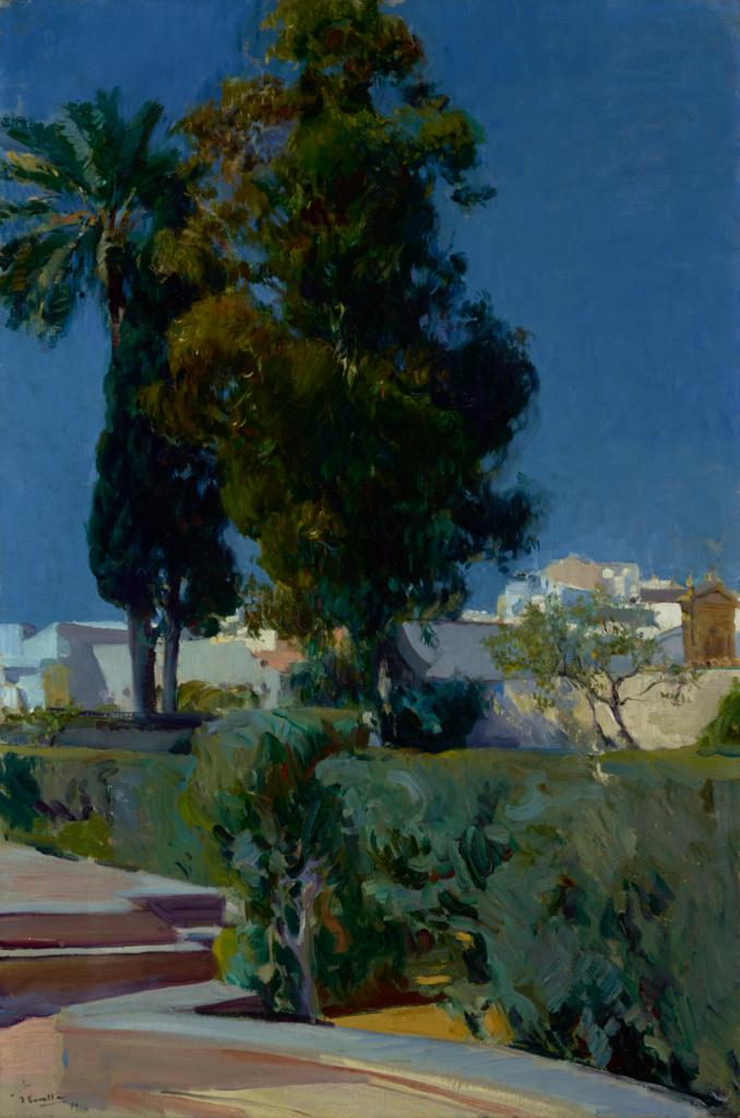 Corner of the Garden, Alcazar, Sevilla; Joaquín Sorolla y Bastida (Spanish, 1863 - 1923); 1910; Oil on canvas; 95.3 × 63.5 cm (37 1/2 × 25 in.); 79.PA.155; The J. Paul Getty Museum, Los Angeles; Rights Statement: No Copyright - United States