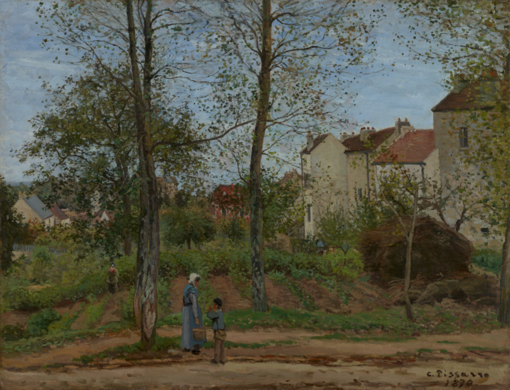Landscape at Louveciennes (Autumn); Camille Pissarro (French, 1830 - 1903); France; 1870; Oil on canvas; 88.9 × 116.2 cm (35 × 45 3/4 in.); 82.PA.73; The J. Paul Getty Museum, Los Angeles; Rights Statement: No Copyright - United States
