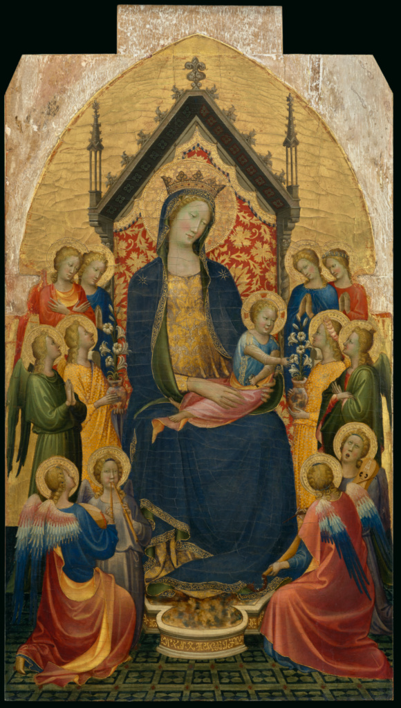 Madonna And Child With Musical Angels Getty Museum