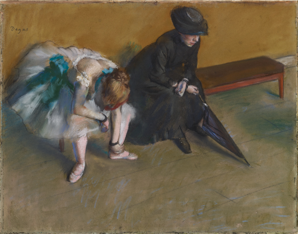 Waiting (L'Attente); Edgar Degas (French, 1834 - 1917); about 1882; Pastel on paper; 48.3 × 61 cm (19 × 24 in.); 83.GG.219; The J. Paul Getty Museum, Los Angeles, Owned jointly with the Norton Simon Art Foundation, Pasadena; Rights Statement: No Copyright - United States