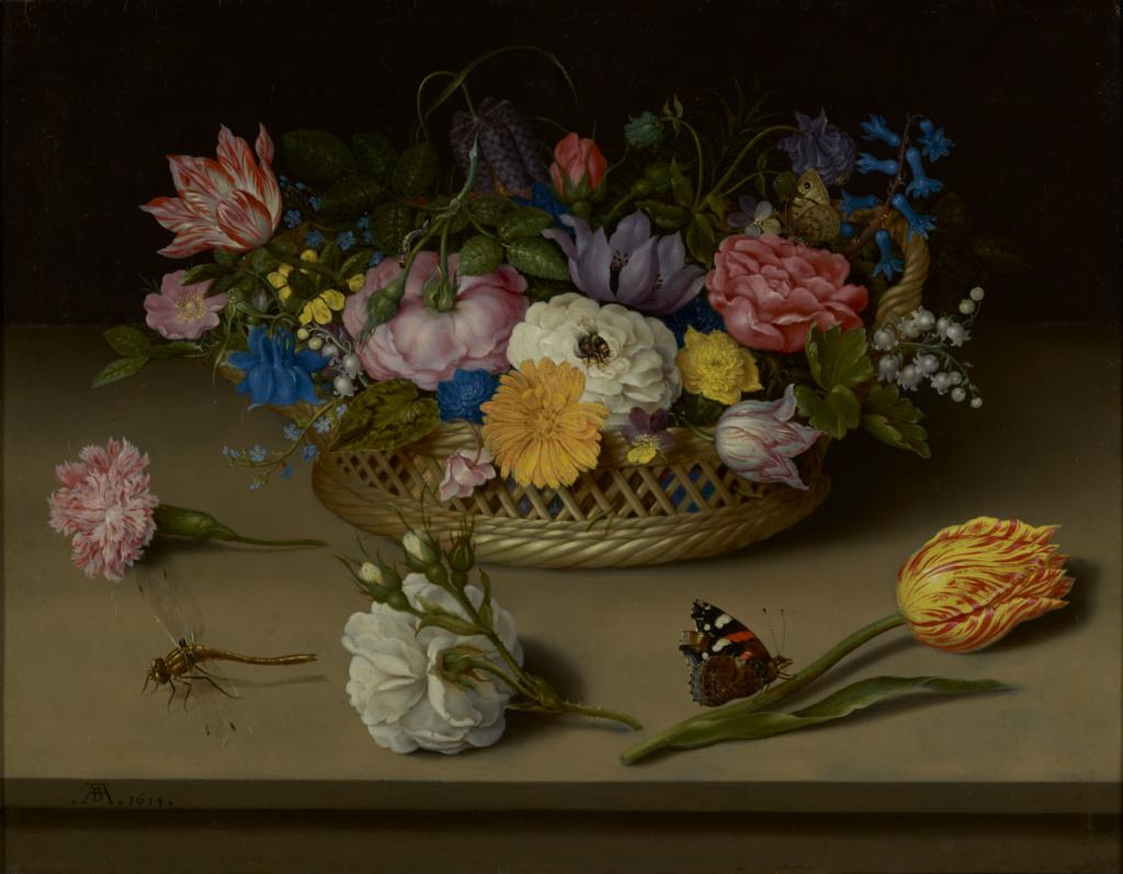 Flower Still Life; Ambrosius Bosschaert the Elder (Dutch, 1573 - 1621); 1614; Oil on copper; 30.5 × 38.9 cm (12 × 15 5/16 in.); 83.PC.386; Rights Statement: No Copyright - United States