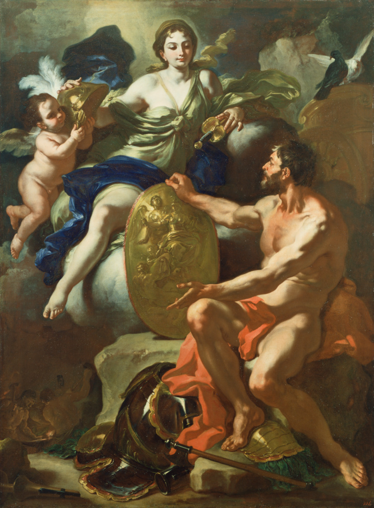 Venus at the Forge of Vulcan; Francesco Solimena (Italian, 1657 - 1747); 1704; Oil on canvas; 205.4 × 153.7 cm (80 7/8 × 60 1/2 in.); 84.PA.64; The J. Paul Getty Museum, Los Angeles; Rights Statement: No Copyright - United States
