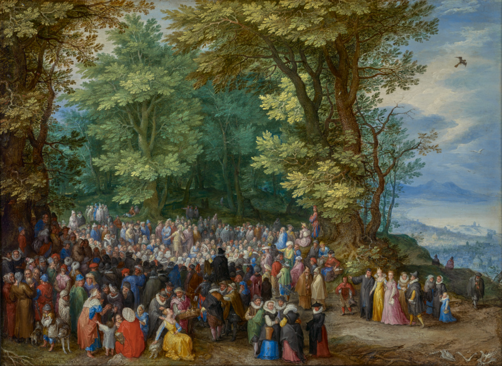 The Sermon on the Mount; Jan Brueghel the Elder (Flemish, 1568 - 1625); 1598; Oil on copper; 26.7 × 36.8 cm (10 1/2 × 14 1/2 in.); 84.PC.71; The J. Paul Getty Museum, Los Angeles; Rights Statement: No Copyright - United States