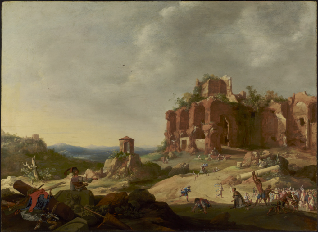 The Stoning of Saint Stephen; Bartholomeus Breenbergh (Dutch, 1598 - 1657); 1632; Oil on panel; 67.5 × 92.1 cm (26 9/16 × 36 1/4 in.); 84.PB.639; Rights Statement: No Copyright - United States