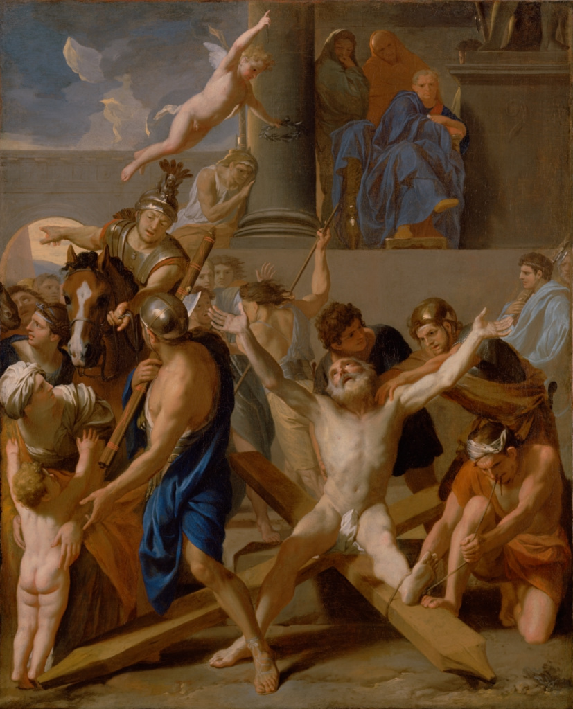 The Martyrdom of Saint Andrew; Charles Le Brun (French, 1619 - 1690); 1646–1647; Oil on canvas; 98.4 × 80 cm (38 3/4 × 31 1/2 in.); 84.PA.669; The J. Paul Getty Museum, Los Angeles; Rights Statement: No Copyright - United States
