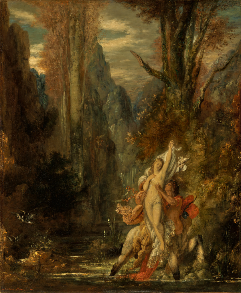 Dejanira (Autumn); Gustave Moreau (French, 1826 - 1898); about 1872–1873; Oil on panel; 55.1 × 45.4 cm (21 11/16 × 17 7/8 in.); 84.PB.682; Rights Statement: No Copyright - United States