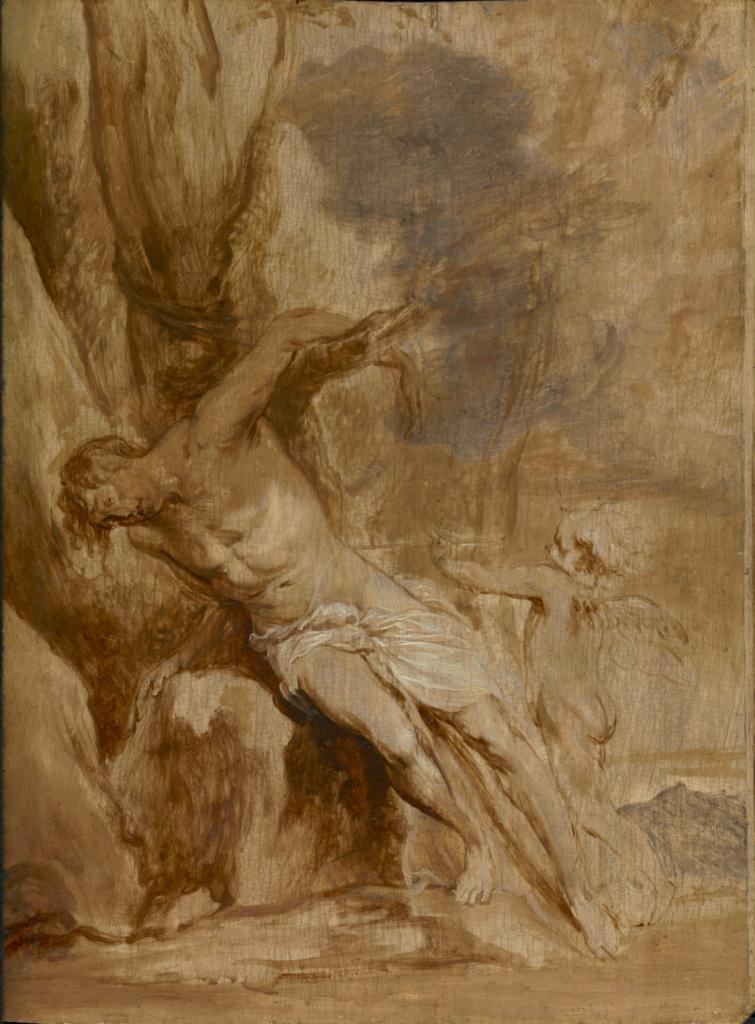 Saint Sebastian Tended by an Angel Getty Museum