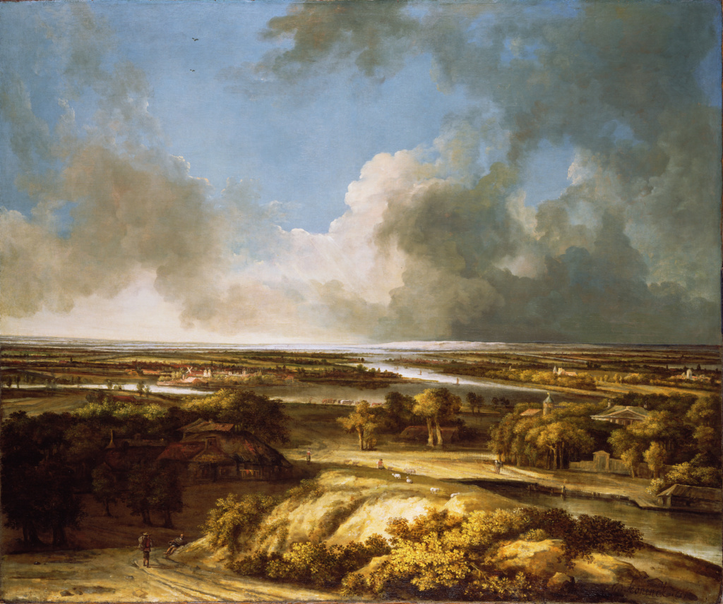 A Panoramic Landscape; Philips Koninck (Dutch, 1619 - 1688); 1665; Oil on canvas; 138.4 × 166.4 cm (54 1/2 × 65 1/2 in.); 85.PA.32; Rights Statement: No Copyright - United States