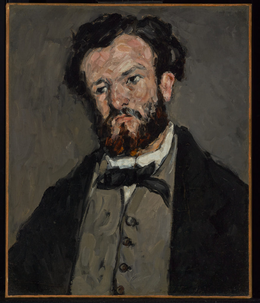 Portrait of Anthony Valabrègue; Paul Cézanne (French, 1839 - 1906); 1869–1871; Oil on canvas; 60 × 50.2 cm (23 5/8 × 19 3/4 in.); 85.PA.45; Rights Statement: No Copyright - United States
