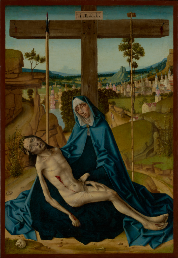 Pietà; Circle of Fernando Gallego (Spanish (Castile), about 1440/1445 - about 1507); about 1490–1500; Oil on panel; 49.8 × 34.3 cm (19 5/8 × 13 1/2 in.); 85.PB.267; The J. Paul Getty Museum, Los Angeles; Rights Statement: No Copyright - United States