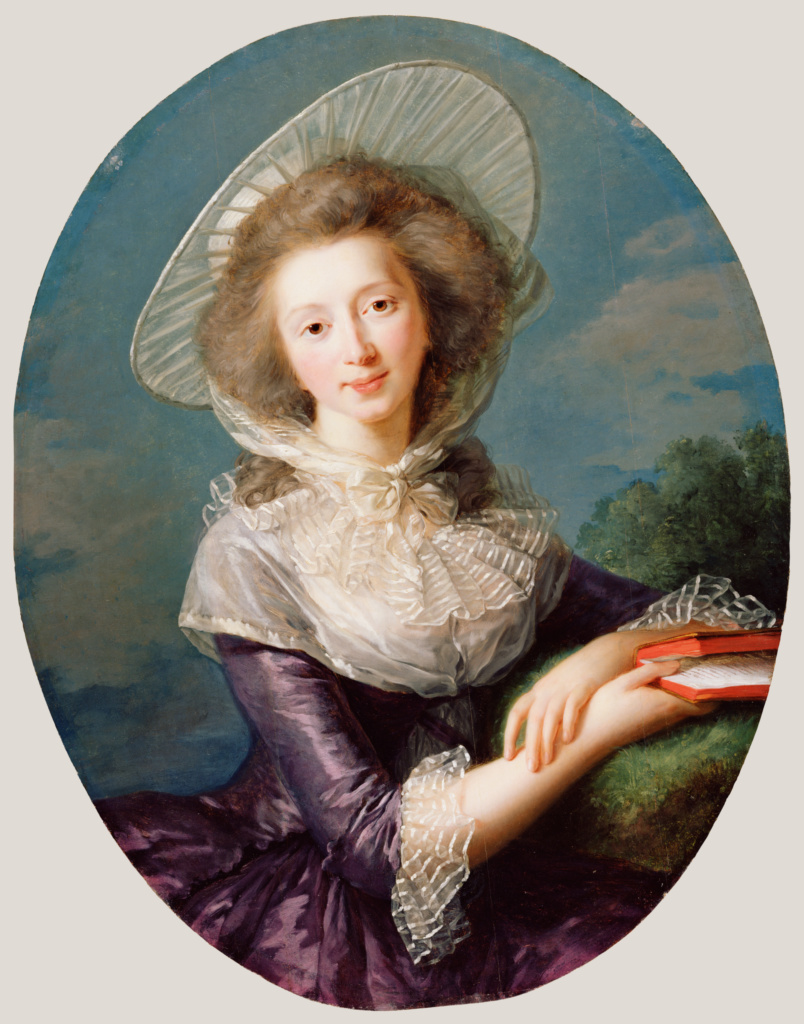 The Vicomtesse de Vaudreuil; Élisabeth Louise Vigée Le Brun (French, 1755 - 1842); 1785; Oil on panel; 83.2 × 64.8 cm (32 3/4 × 25 1/2 in.); 85.PB.443; The J. Paul Getty Museum, Los Angeles; Rights Statement: No Copyright - United States