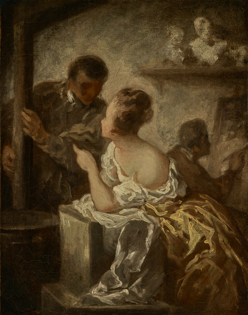 The Studio; Honoré Daumier (French, 1808 - 1879); about 1870; Oil on canvas; 40.6 × 32.1 cm (16 × 12 5/8 in.); 85.PA.514; Rights Statement: No Copyright - United States