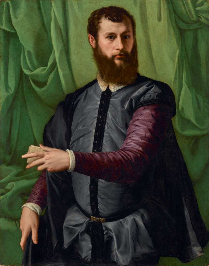 Portrait of a Man; Francesco Salviati (Italian, 1510 - 1563); about 1544–1548; Oil on panel; 109.7 × 86.4 cm (43 3/16 × 34 in.); 86.PB.476; The J. Paul Getty Museum, Los Angeles; Rights Statement: No Copyright - United States
