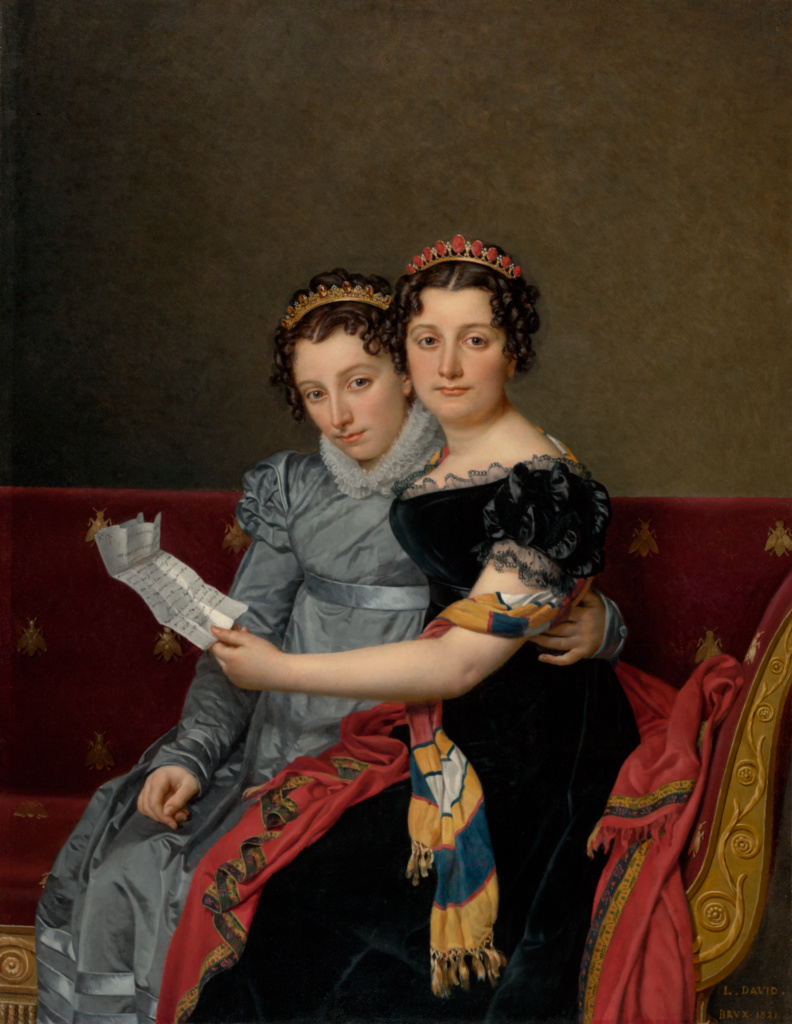 Portrait of the Sisters Zénaïde and Charlotte Bonaparte; Jacques-Louis David (French, 1748 - 1825); 1821; Oil on canvas; 129.5 × 100.6 cm (51 × 39 5/8 in.); 86.PA.740; Rights Statement: No Copyright - United States