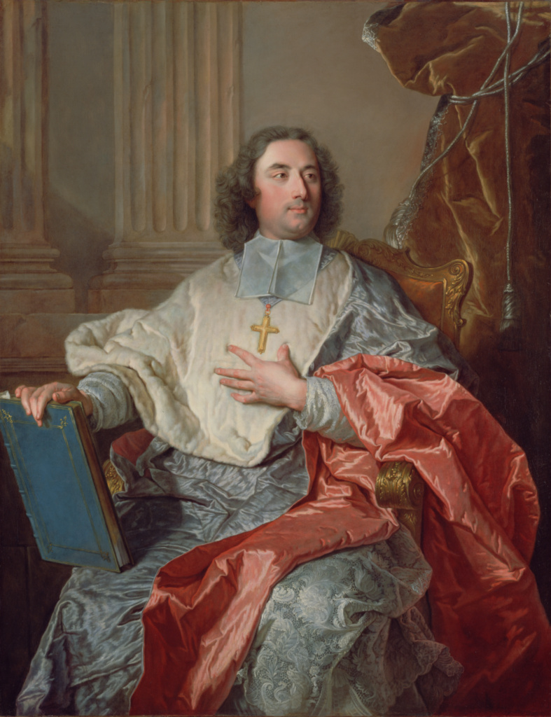 Charles de Saint-Albin, Archbishop of Cambrai; Hyacinthe Rigaud (French, 1659 - 1743); France; 1723; Oil on canvas; 146.1 × 113 cm (57 1/2 × 44 1/2 in.); 88.PA.136; The J. Paul Getty Museum, Los Angeles; Rights Statement: No Copyright - United States