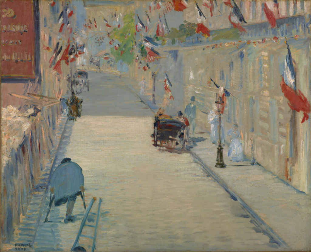 The Rue Mosnier with Flags; Édouard Manet (French, 1832 - 1883); France; 1878; Oil on canvas; 65.4 × 80 cm (25 3/4 × 31 1/2 in.); 89.PA.71; The J. Paul Getty Museum, Los Angeles; Rights Statement: No Copyright - United States