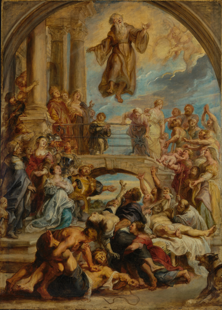 The Miracles of Saint Francis of Paola; Peter Paul Rubens (Flemish, 1577 - 1640); about 1627–1628; Oil on panel; 110.5 × 79.4 cm (43 1/2 × 31 1/4 in.); 91.PB.50; The J. Paul Getty Museum, Los Angeles; Rights Statement: No Copyright - United States
