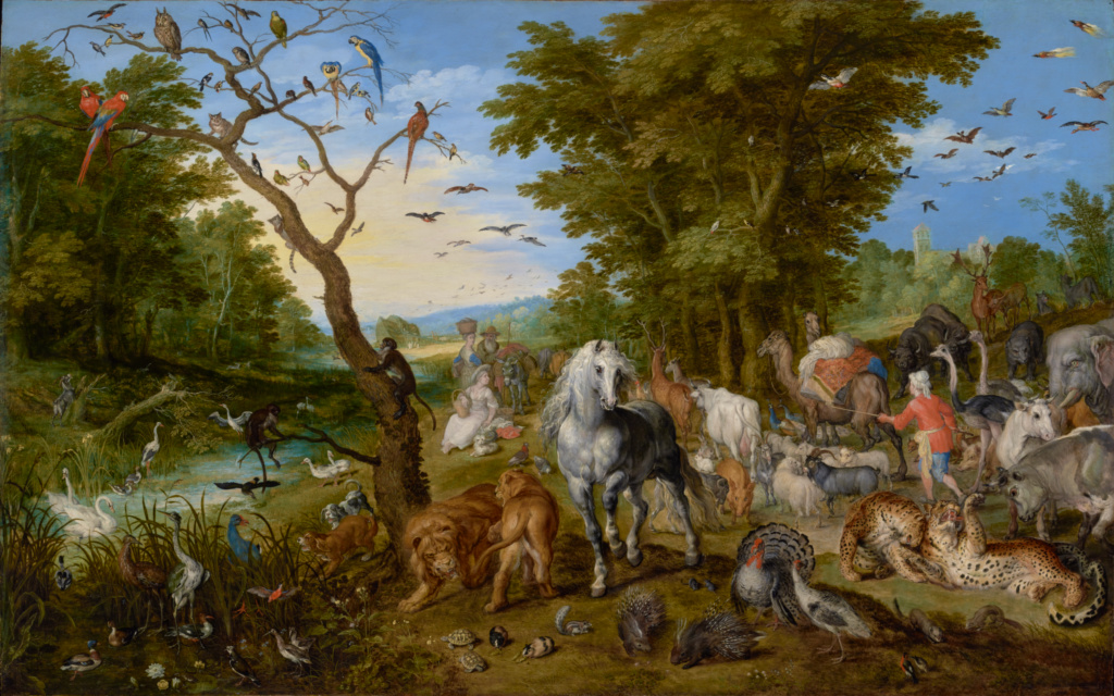 The Entry of the Animals into Noah's Ark; Jan Brueghel the Elder (Flemish, 1568 - 1625); 1613; Oil on panel; 54.6 × 83.8 cm (21 1/2 × 33 in.); 92.PB.82; Rights Statement: No Copyright - United States