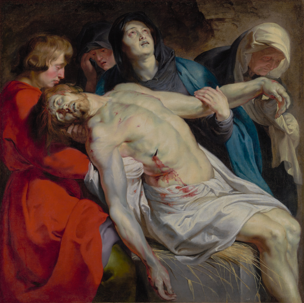 The Entombment; Peter Paul Rubens (Flemish, 1577 - 1640); about 1612; Oil on canvas; 131.1 × 130.2 cm (51 5/8 × 51 1/4 in.); 93.PA.9; Rights Statement: No Copyright - United States