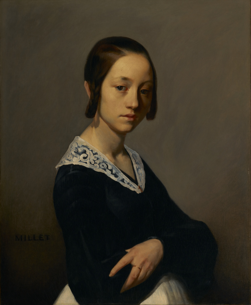Portrait of Louise-Antoinette Feuardent; Jean-François Millet (French, 1814 - 1875); France; 1841; Oil on canvas; 73.3 × 60 cm (28 7/8 × 23 5/8 in.); 95.PA.67; The J. Paul Getty Museum, Los Angeles; Rights Statement: No Copyright - United States