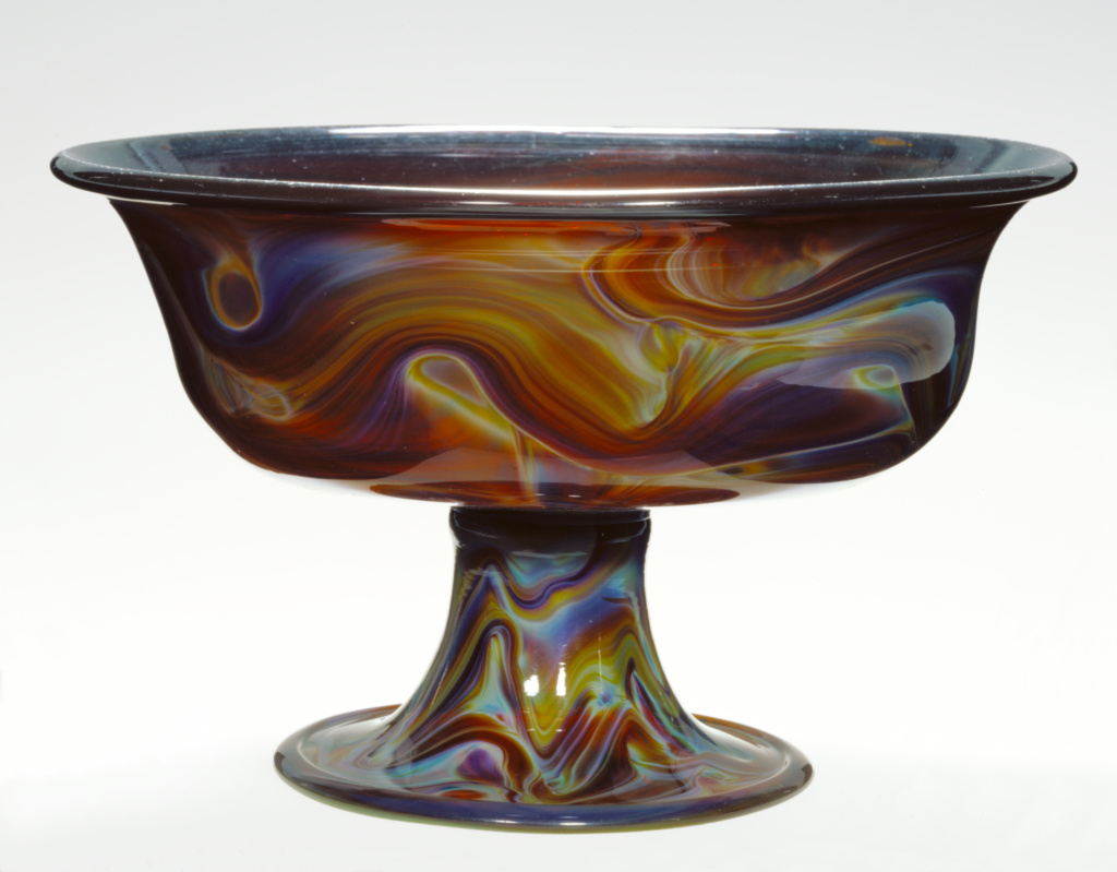 Footed Bowl (Coppa); Unknown; about 1500; Free-blown calcedony glass; 12.4 × 19.7 cm (4 7/8 × 7 3/4 in.); 84.DK.660; Rights Statement: No Copyright - United States