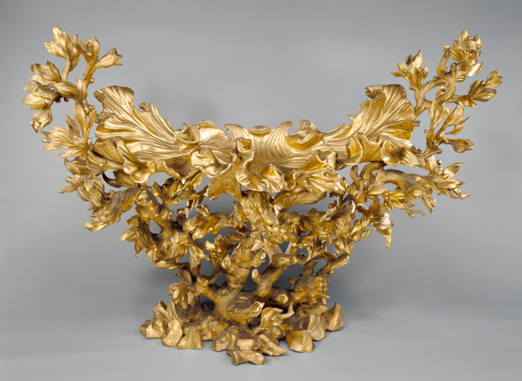 Side Table; Design attributed to Johann Paul Schor (called Giovanni Paolo Tedesco) (Austrian, 1615 - 1674); Rome, Lazio, Italy; about 1670; Gessoed and gilt poplar; 170 × 224.8 × 84.9 cm (66 15/16 × 88 1/2 × 33 7/16 in.); 86.DA.7; The J. Paul Getty Museum, Los Angeles; Rights Statement: No Copyright - United States